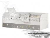 Трио Кровать детская с подъёмным механизмом КРП-01 (белый/звездное детство)
