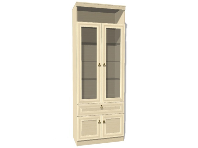 Шкаф для книг инна (денвер светлый) (Яна) - мебель недорого .
